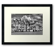 South Lookout Tower Aldeburgh Black and White Framed Print
