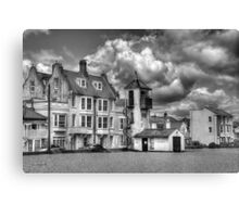 South Lookout Tower Aldeburgh Black and White Canvas Print
