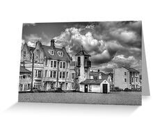 South Lookout Tower Aldeburgh Black and White Greeting Card