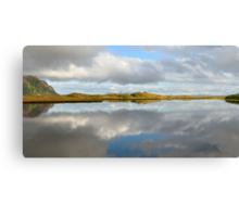 Clouds have dissolved in the water Canvas Print