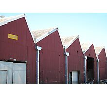 Red Sheds 1 Photographic Print