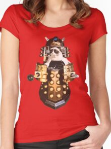 Grumpy Dalek - Exterminate Everybody Women's Fitted Scoop T-Shirt