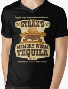 Strax's Memory Worm Tequila Mens V-Neck T-Shirt