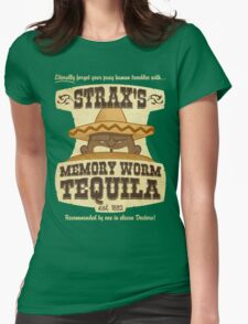 Strax's Memory Worm Tequila Womens Fitted T-Shirt