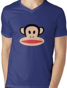 Monkey face logo Mens V-Neck T-Shirt
