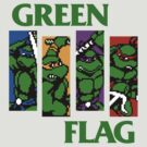 Green Flag - Teenage Mutant Ninja Turtles / Black Flag Mashup by xnmex