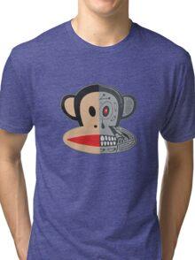 Alien Monkey face logo Tri-blend T-Shirt