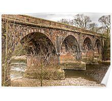 Structure, Bridge, Railway, River, Crossing Poster