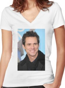 Jim Carrey Women's Fitted V-Neck T-Shirt
