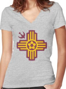 Albuquerque // America League // PCGD Women's Fitted V-Neck T-Shirt