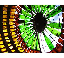 Light & Glass 1 - beer and wine bottle sculpture. Image Photographic Print