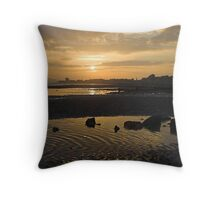 Broughty Ferry Sunset Throw Pillow