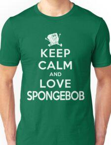 Keep Calm and Love Spongebob (dark colors) Unisex T-Shirt
