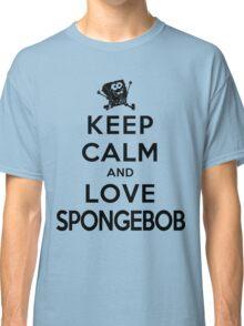 Keep Calm and Love Spongebob (light colors) Classic T-Shirt