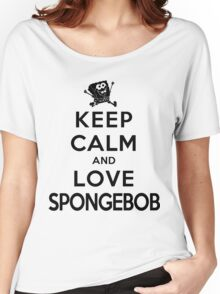Keep Calm and Love Spongebob (light colors) Women's Relaxed Fit T-Shirt
