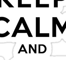Keep Calm and Love Spongebob (light colors) Sticker