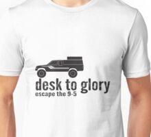 Desk To Glory Logo - Black Unisex T-Shirt