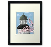 Dome and Cherry Blossoms Framed Print