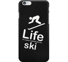 Ski v Life - White Graphic iPhone Case/Skin