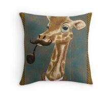 Classy Giraffe Throw Pillow