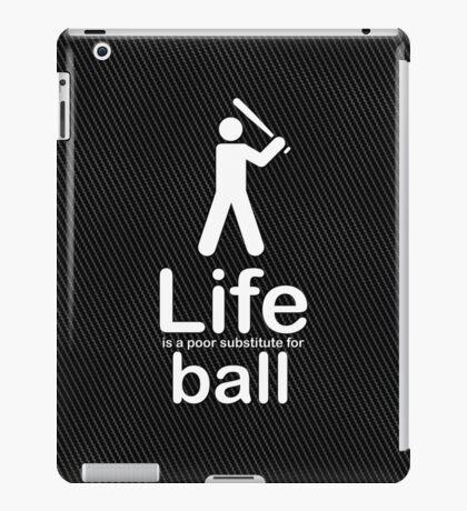 Ball v Life - Carbon Fibre Finish iPad Case/Skin