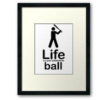 Ball v Life - Marble Framed Print