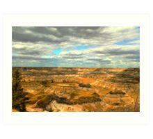 Drumheller canyons  Art Print