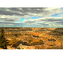 Drumheller canyons  Photographic Print