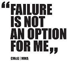 Conor McGregor - Quotes [Failure] Photographic Print