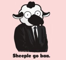Sheeple go baa. (Light) One Piece - Long Sleeve