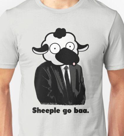 Sheeple go baa. (Light) Unisex T-Shirt