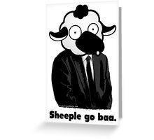 Sheeple go baa. (Light) Greeting Card