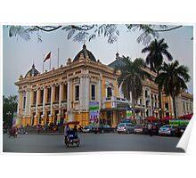 Vietnam. Hanoi. Opera house. Poster