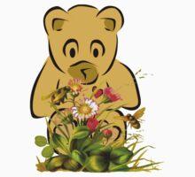 Teddy,Flowers and Bees...Tee Kids Tee