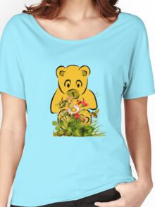 Teddy,Flowers and Bees...Tee Women's Relaxed Fit T-Shirt