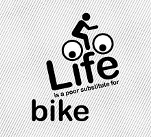 Bike v Life - Black Graphic by Ron Marton