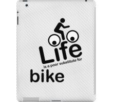 Bike v Life - Black Graphic iPad Case/Skin