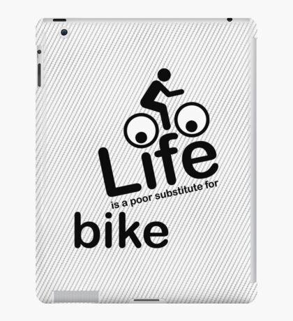Bike v Life - Black Graphic iPad Case/Skin