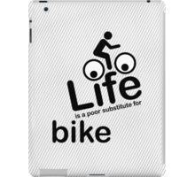 Bike v Life - Black iPad Case/Skin