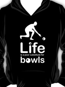 Bowls v Life - Carbon Fibre Finish T-Shirt