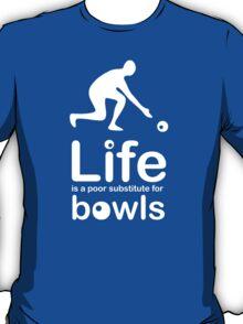 Bowls v Life - Carbon Fibre Finish T-Shirt