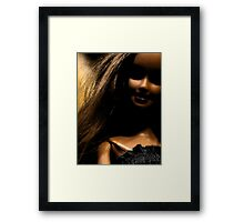 Darker side of Barbie Framed Print