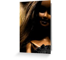 Darker side of Barbie Greeting Card
