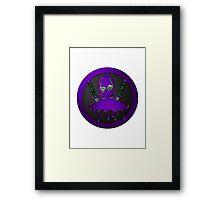 Purple Ninja Framed Print
