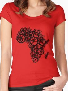 Africa T (Red) Women's Fitted Scoop T-Shirt