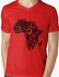 Africa T (Red) Mens V-Neck T-Shirt