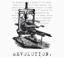 Printing Press = Revolution Kids Clothes