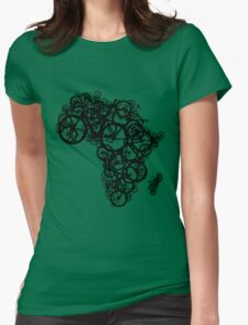 Africa T (Green) Womens Fitted T-Shirt