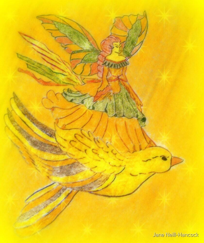 Butterfly Fairy in Flight by Jane Neill-Hancock