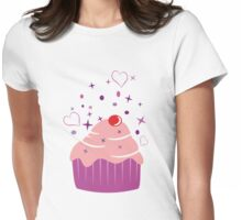 Sweet Cupcake Womens Fitted T-Shirt